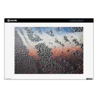 """Condensed water drops 13"""" laptop decal"""