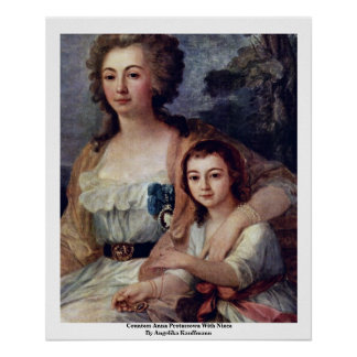 Condesa Ana Protassowa con la sobrina Posters