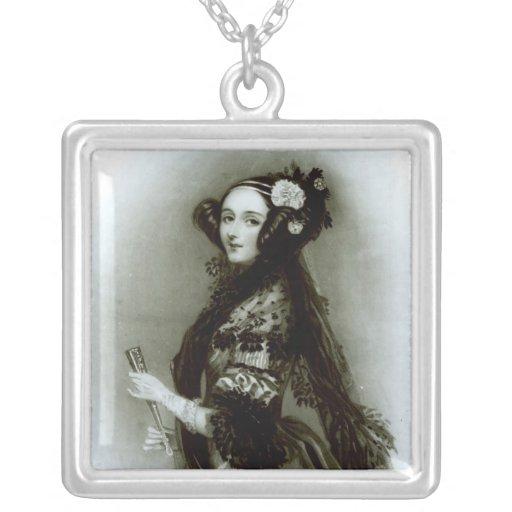 Condesa del Ada Byron de Augusta de Lovelace Colgante Cuadrado