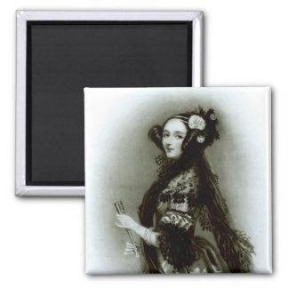 Condesa del Ada Byron de Augusta de Lovelace Imán Cuadrado