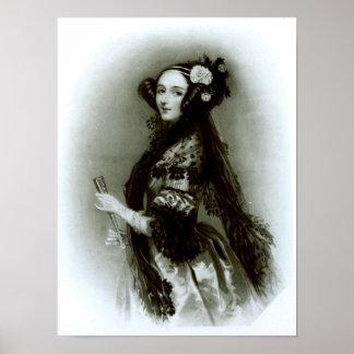 Condesa del Ada Byron de Augusta de Lovelace Poster