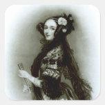 Condesa del Ada Byron de Augusta de Lovelace Pegatina Cuadrada