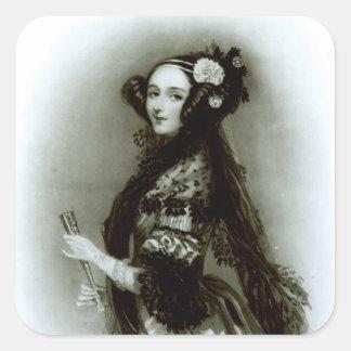 Condesa del Ada Byron de Augusta de Lovelace Pegatinas Cuadradases