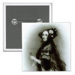 Condesa del Ada Byron de Augusta de Lovelace Pin Cuadrada 5 Cm