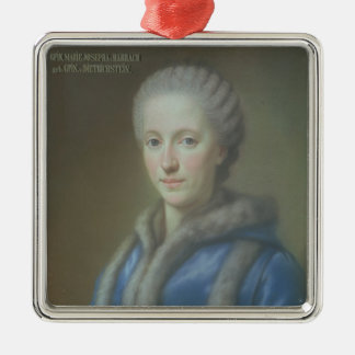 Condesa Maria Josepha von Harrach Adorno Navideño Cuadrado De Metal