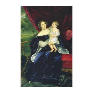 Condesa Olga Ivanovna Orlov con su hija Impresion En Lona