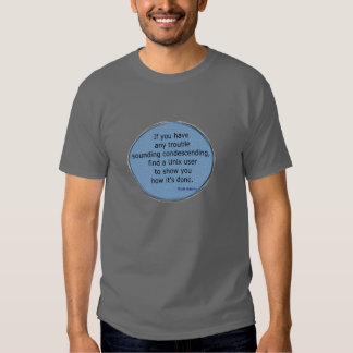 Condescending Unix - Scott Adams Tee Shirt