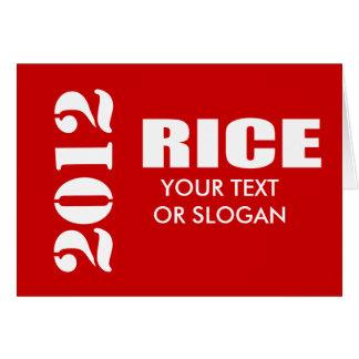 CONDI RICE 2012 GREETING CARDS