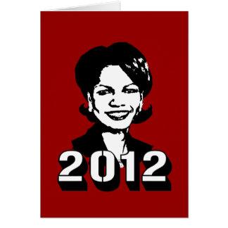 Condi Rice 2012 Greeting Card