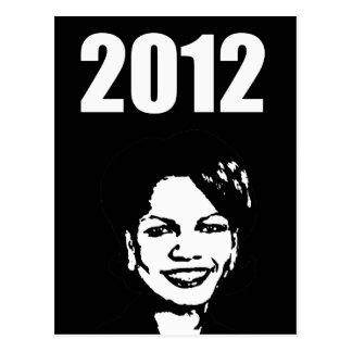 Condi Rice 2012 Postcard