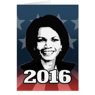 CONDI RICE 2016 CANDIDATE STATIONERY NOTE CARD