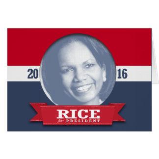 CONDI RICE 2016 GREETING CARDS