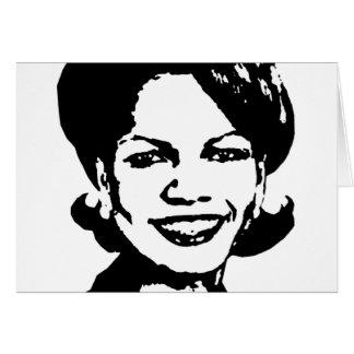Condi Rice Gear Greeting Cards