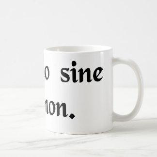 Condición sin la cual no tazas de café