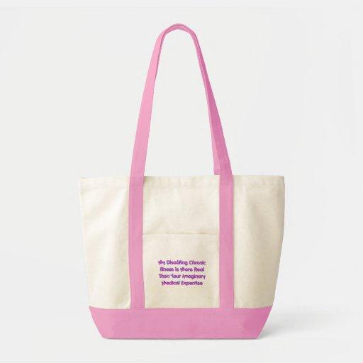 Condiciones crónicas - púrpuras bolsa lienzo