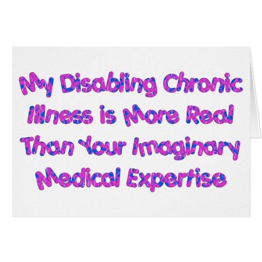 Condiciones crónicas - púrpuras tarjeta de felicitación
