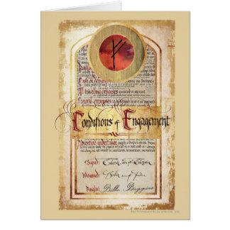Condiciones del compromiso tarjeta de felicitación