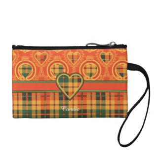 Condie clan Plaid Scottish kilt tartan Coin Wallet