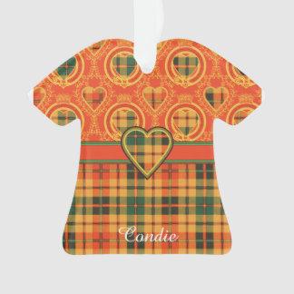 Condie clan Plaid Scottish kilt tartan Ornament