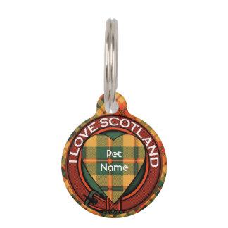 Condie clan Plaid Scottish kilt tartan Pet ID Tag