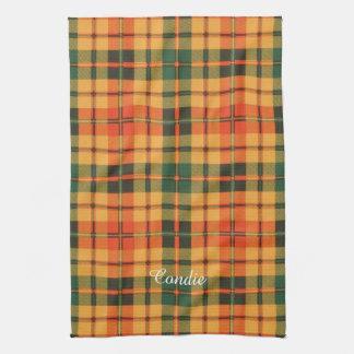 Condie clan Plaid Scottish kilt tartan Towels