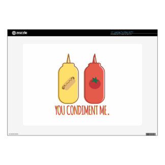 "Condiment Me Decals For 15"" Laptops"