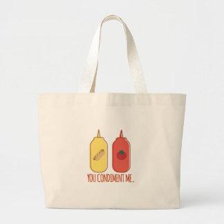 Condiment Me Large Tote Bag