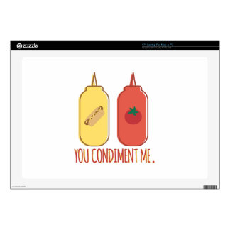 "Condiment Me Skins For 17"" Laptops"