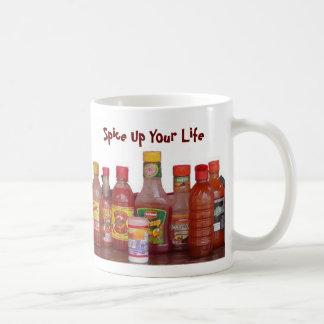 Condimente para arriba su vida taza básica blanca