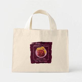 Condimento anaranjado del arándano: Receta Bolsa Tela Pequeña