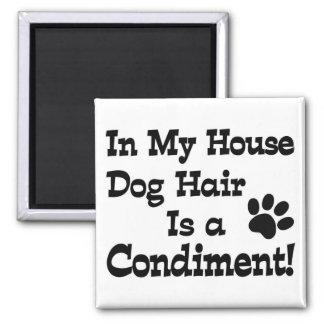Condimento del pelo de perro iman de frigorífico