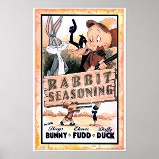 Condimento Looney del conejo de los tonos Poster