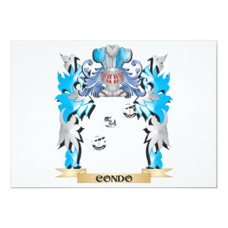 Condo Coat of Arms - Family Crest 5x7 Paper Invitation Card