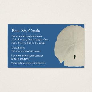 Condo Rentals Sand Dollar Blue Business Cards