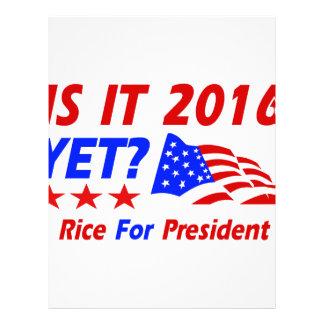 Condoleezza Rice 2016 Personalized Letterhead