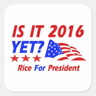 Condoleezza Rice 2016 Pegatina Cuadrada