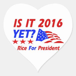 Condoleezza Rice 2016 Pegatina En Forma De Corazón