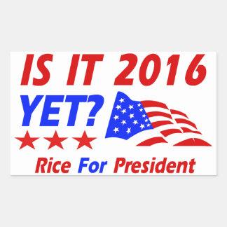 Condoleezza Rice 2016 Pegatina Rectangular