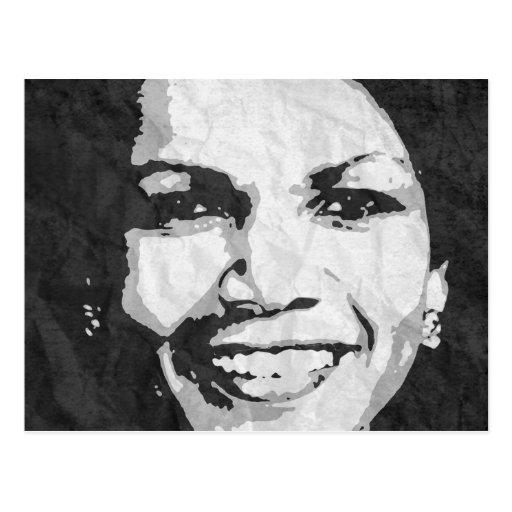 CONDOLEEZZA RICE INK ART POSTCARD
