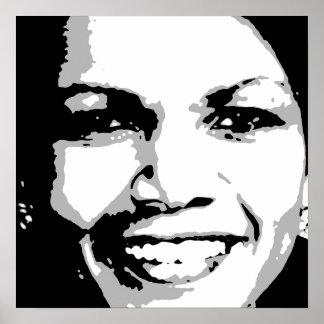 CONDOLEEZZA RICE INK ART POSTERS