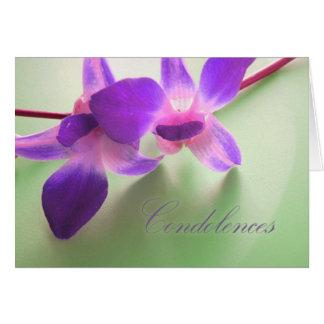 Condolence Card (purple orchids)
