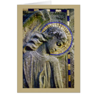 Condolence Card with Angel Sculpture