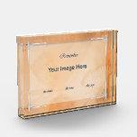 Condolence/Sympathy Card Acrylic Award