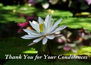 thank you for condolences