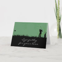 Condolences Card for a Man who Loved to Golf