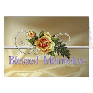 Condolencia bendecida de la madre de las memorias tarjeta de felicitación