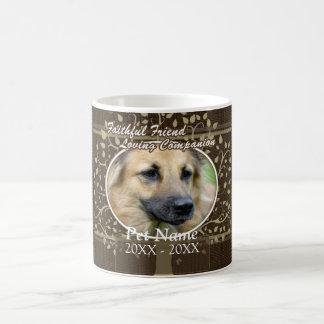 Condolencia de encargo del mascota del amigo fiel taza de café
