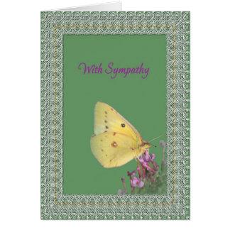 Condolencia de la mariposa del cordón tarjetas