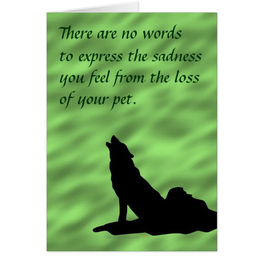 Condolencia de la silueta del lobo del grito para tarjeta de felicitación