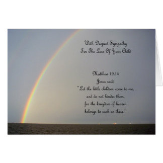 Condolencia del arco iris - pérdida de hijo felicitación